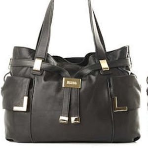 Michael Kors Beverly Black Drawstring satchel bag